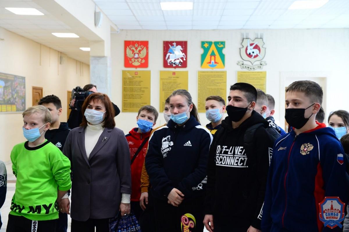 В «Самбо-70» в гости приехали учащиеся спецклассов самбо МБОУ «СОШ № 2» г. Чебоксары