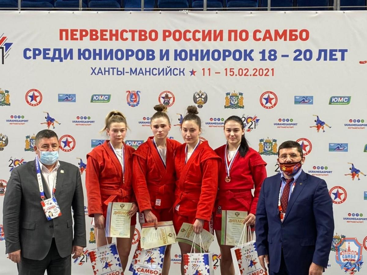 Ещё 4 медали во второй день Первенства России по самбо среди юниоров
