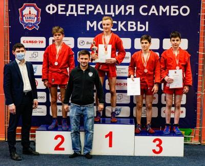 20-21 марта прошло Первенство Москвы 2021 года по самбо среди юношей и девушек 14-16 лет