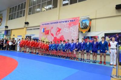 XIОткрытый турнир поборьбе самбо среди юношей 2002-2003 годов рождения наКубок Героев Отечества
